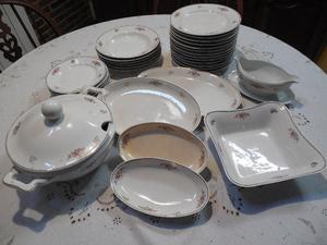 Juego de mesa completo para 6 personas, de porcelana