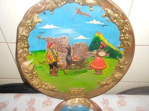Platos decorativos de cobre