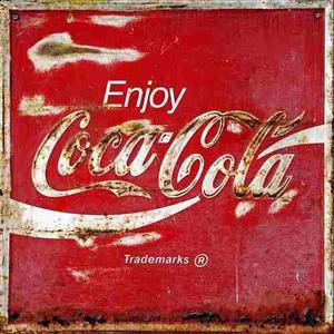 Publicidades en placas de chapa posot class - Chapa coca cola pared ...