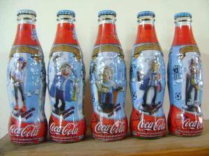 Set Botellas Coca Cola Minihinchas Llenas