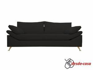 Sillon Sofa 3 Tres Cuerpos Pana 2,10mts. Diseño Moderno