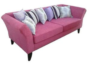 Sillon Sofa Living 3 Cuerpos Tapizado Combinado