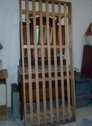 Vdo cama de pino de 1 plaza en condiciones - Te.  o