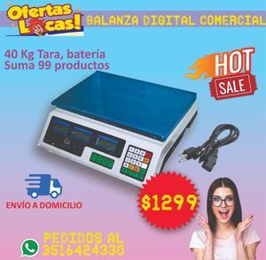 Balanza Digital Comercial 40 Kilos Tara