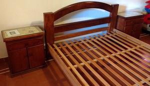 Juego de dormitorio Algarrobo Macizo