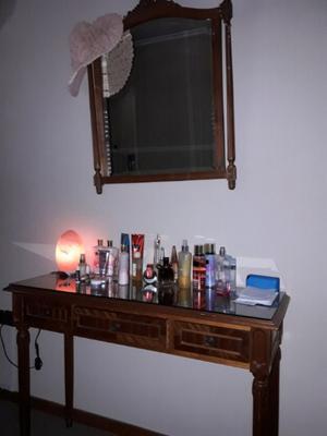 Vendo espejo +mueble con cajones + mesa de tv en roble