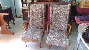 Antiguos sillones individuales de estilo