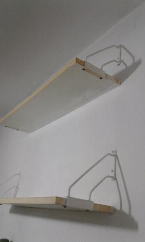 Dos estantes melamina
