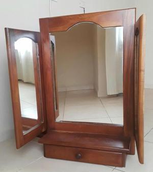 Espejo con cajón de algarrobo usado