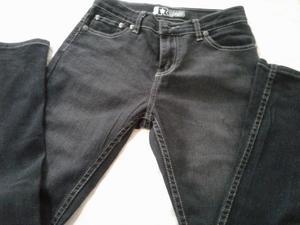 Pantalon Jean Negro Marca Republic Talle 8 Grande