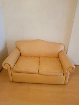 Sofa 2 cuerpos ecocuero