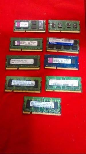 9 Memorias DDR3 y DDR2 para netbook liquido hoy