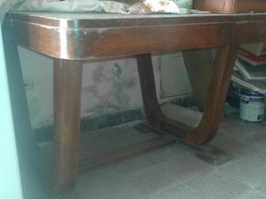 Liquido mesa antigua estilo art decó extensible