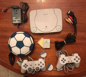 Play Station 1 Sony Con Accesorios Y 22 Juegos