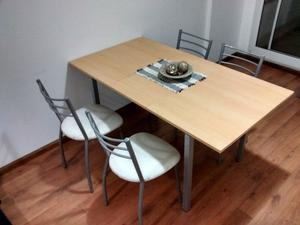 Mesa y sillas juego de cocina