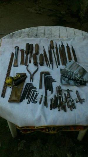 herramientas usadas varias