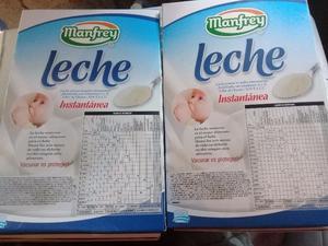 vendo 2 cajas de leche manfrey