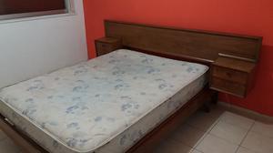Vendo cama con colchon de 2 plazas con resortes