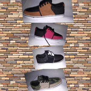 Zapatillas de lona con cuero