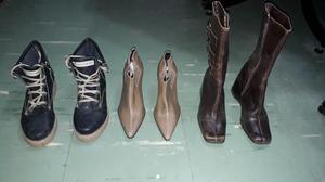 lote de botas de mujer