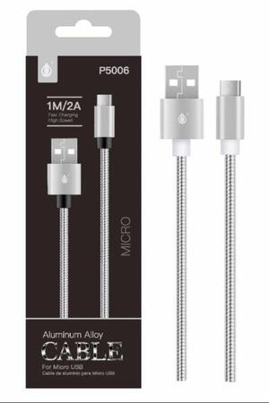 CABLE DE DATOS USB CONECTOR TIPO MICRO USB CABLE METALICO