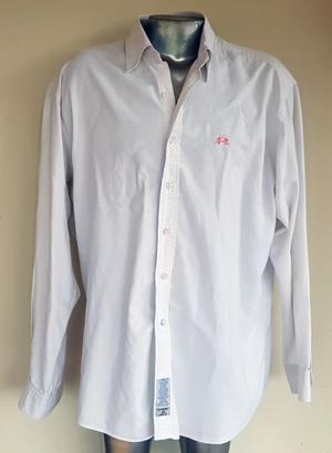 Camisa hombre La Martina. Blanca. Talle grande. Usada