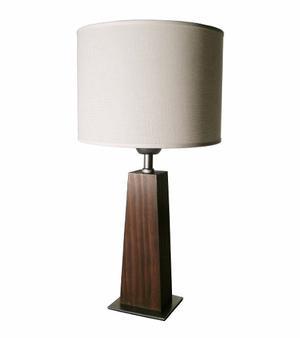 Lámpara Velador De Diseño Araucaria Lustrada Notable