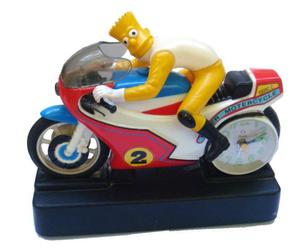 Reloj Moto Vintage Bart Simpson Retro Adorno Coleccion Bike