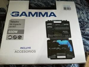 Taladro De Impacto 650w Gama Con Accesorios Kit Gkar