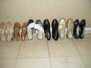 Variedad de calzados femeninos N°39 y botas de lluvia N°35