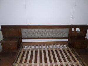 Vendo cama d 2 plazas con mesas d luz