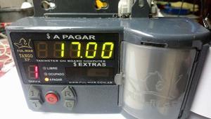 reloj de taxi FULMAR TANGO XP c/BANDERA DE LED