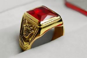 1e450fd17bdb Anillo sello corona hombre oro 18k piedra cubic encamisado