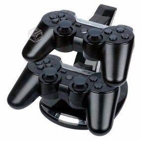 Base Soporte Cargador Doble 2 Joysticks Ps3 Playstation 3