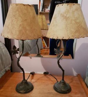 Lamparas de Pie 1 Luz y Tulipa de Hierro Forjado Mesa de Luz