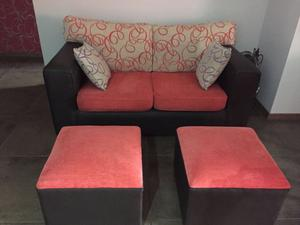 Liquido juego de living, sillón de 2 cuerpos + 2 cubos gdes