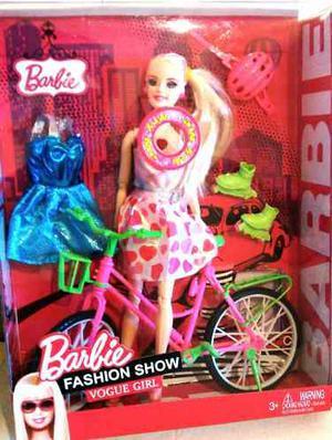 Muñeca Barbie Con Bicicleta O Cochecito De Bebe Y