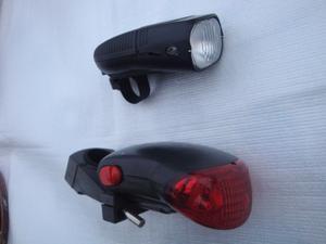 luces de bicicleta delantera y trasera funcionan