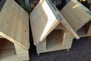 Cuchas para perros de madera