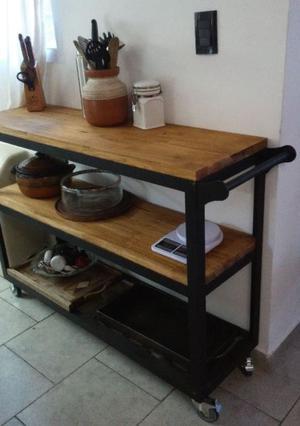 Mesa auxiliar cocina plegable tapa metal blanco | Posot Class