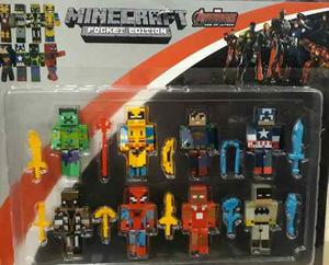 Play Set Minecraft Super Heroes X 8 Unidades 8 Cm