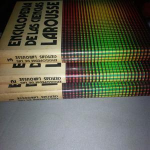 Enciclopedia de las Ciencias Larousse: Son 3 tomos en