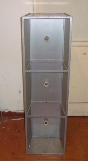 Lampara rectangular hierro y vidrio esmerilado