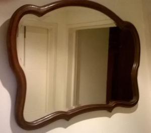 Espectacular Y Antiguo Espejo Estilo Frances