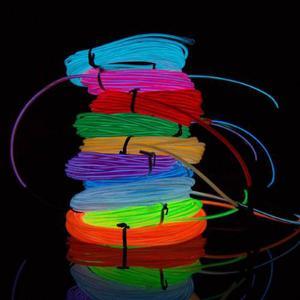 Hilo De Neon 3 Mts Led Luz Fria Luminoso Electroluminiscente