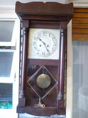 Antiguo Reloj De Pared Aleman Junghans Con Soneria