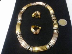 Gargantilla y Aros dorados