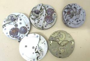 Lote De Maquinas De Relojes De Bolsillo P/repuestos M039