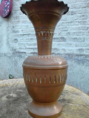Antiguo jarron Florero De Cobre centro de mesa