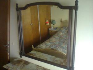 Espejo cristal biselado con marco Luis XV